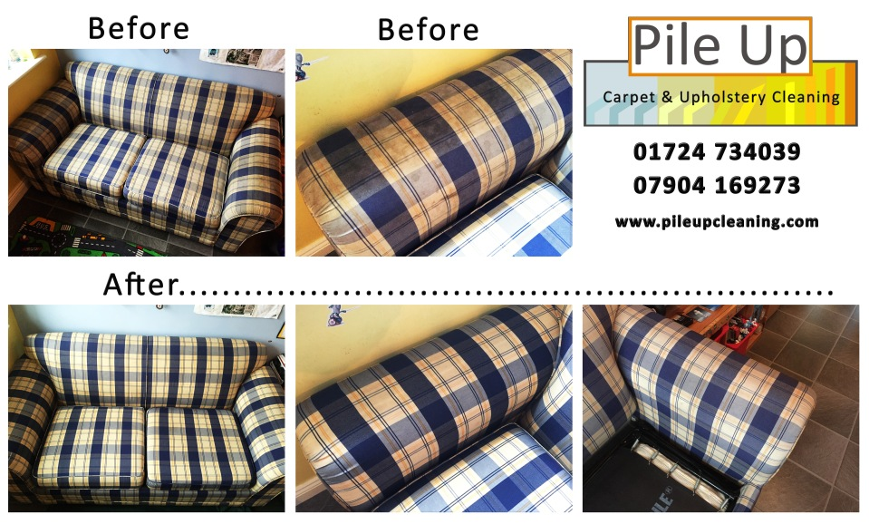 0321 - Sofabed Upholstery Clean - Before and After