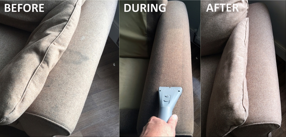 Upholstery before during after
