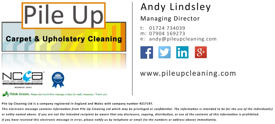 Pile Up Cleaning Contact Details